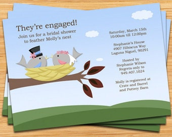 Feather the Nest Bridal Shower Invitation