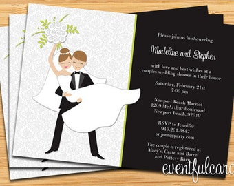Couple Wedding Shower Invitation - Printable or E-card or Facebook