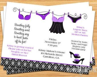 Lingerie Shower Bridal Shower Invitation - Fully Customizable