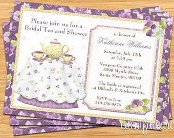 Tea Bridal Shower Invitation