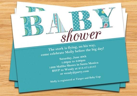Baby Boy Shower Invitation By Eventfulcards On Etsy