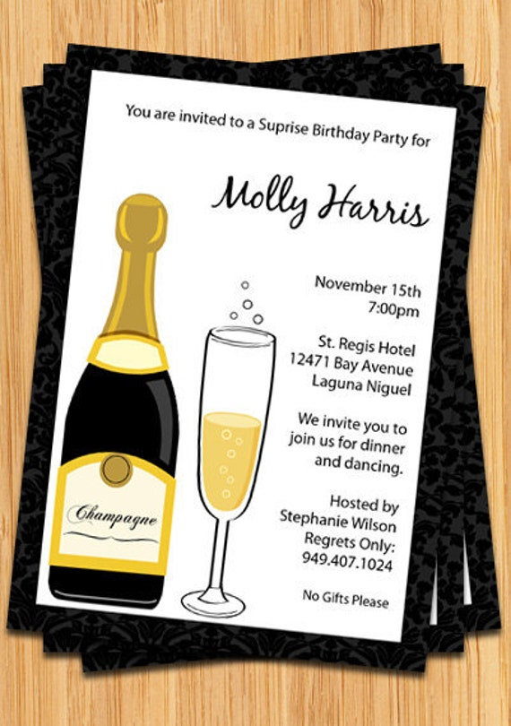 Champagne Party Invitation – Champagne Party Invitations