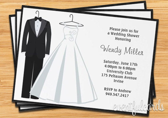 Target Wedding Invitations: Bridal Shower Invitation Tux And Wedding Dress