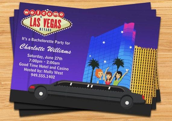 Las Vegas Bachelorette Party Invitation – Las Vegas Bachelorette Party Invitations