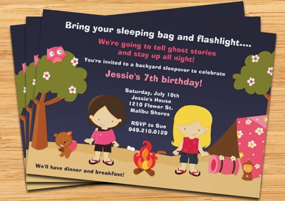 il_570xn - Camping Party Invitations