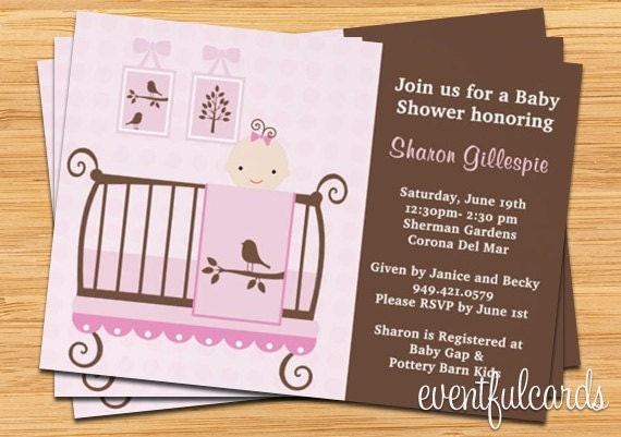 Baby Shower Invitations Girl by eventfulcards on Etsy