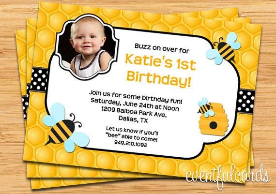 biene geburtstag einladung zur party druckbare oder e-card, Einladung