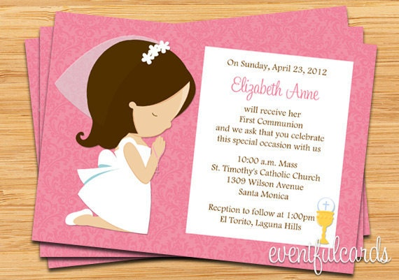 First Holy Communion Invitation Templates is beautiful invitations example