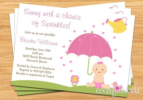Baby sprinkle shower invitation for girl also available in boy by il570xn filmwisefo