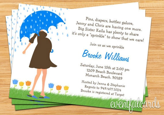 baby sprinkle shower invitation for boy also available in girl