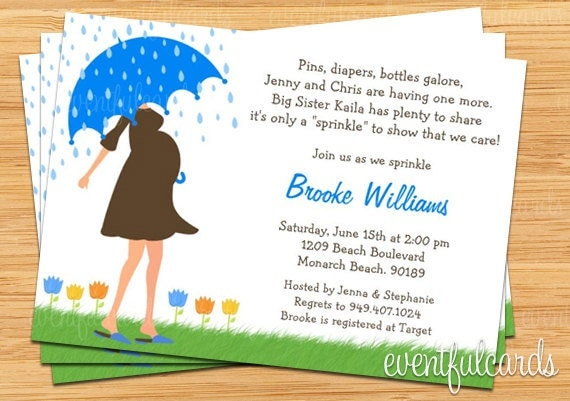 Baby Sprinkle Shower Invitation For Girl Also Available In
