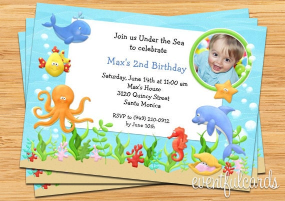 under the sea birthday party invitation - printable by,