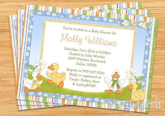 ducky baby shower invitation by eventfulcards on etsy