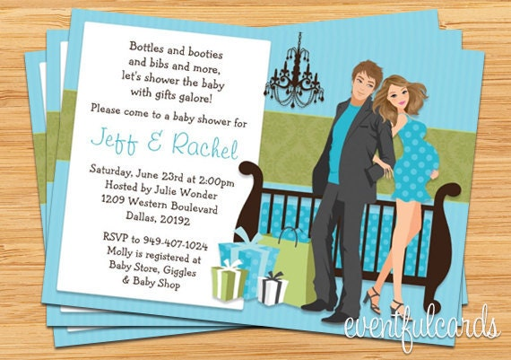 modern couple baby shower invitation by eventfulcards catch my party