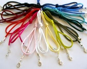 """10 pc Rattail Satin Cord Necklaces Handmade in USA Black Brown Blue Red Pink White Olive Green 14"""" 16"""" 17"""" 18"""" 19"""" 20"""" 22"""" 24"""" 26"""" 28"""" 30"""""""