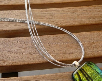 "10 pcs Multi Strand Silver Metalic Cord Necklaces 14"" 16"" 17"" 18"" 19"" 20"" 22"" 24"" 26"" 28"" 30"" Long Handmade in USA"
