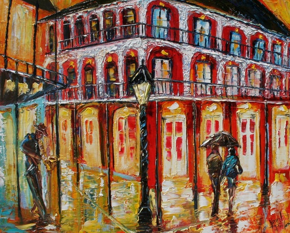 Fine Art Print made from image of oil painting by Karen Tarlton - New Orleans French Quarter Prints modern impressionism fine art