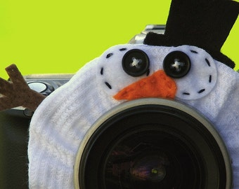 custom standard SNOWMAN Lens Pet for your camera