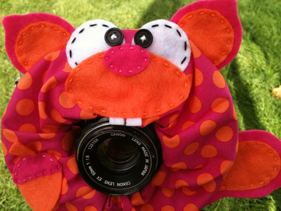 Ready To Ship -- Large Ltd Ed Spring/Easter SQUIRREL Lens Pet for your camera