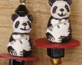 Your Choice of Three Intricately Detailed Ceramic Panda Bear Earrings
