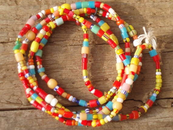 African Trade Bead Love/Christmas Bracelet/Necklace combo