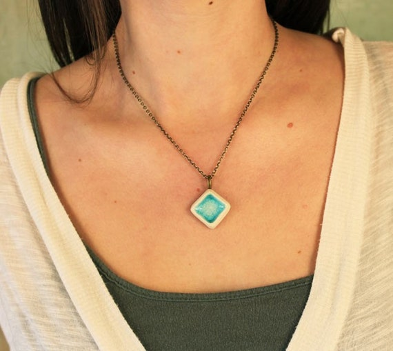 Glass Turquoise Pendant
