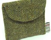 Harris Tweed Purse Brown Herringbone