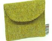Harris Tweed Purse Gold Barleycorn