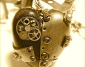 Steampunk Tinker Heart Pendant, Necklace