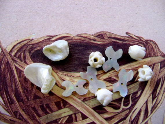 Mother of Pearl Bead Findings