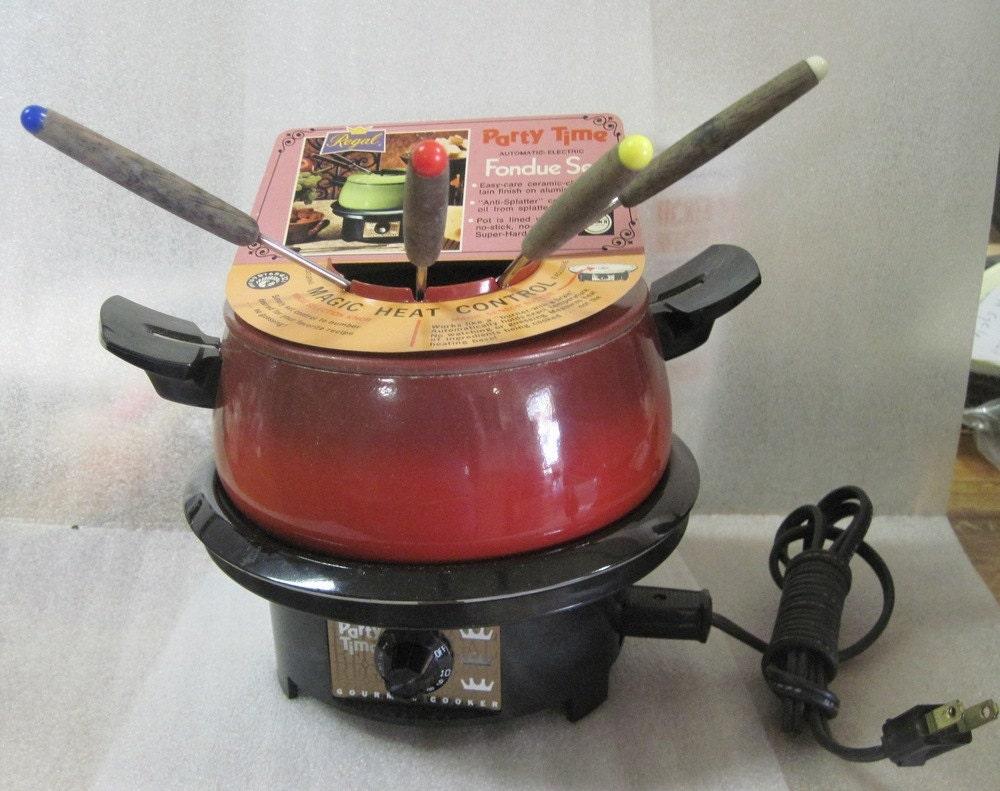 Vintage Rival Electric Fondue Pot In The Box 1970 39 S
