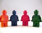 Recycled Crayon Robot Man Set of 4