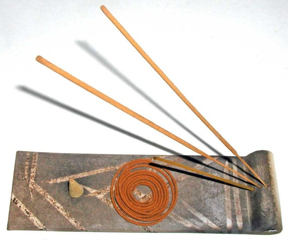 Smoke Fired Incense Holder
