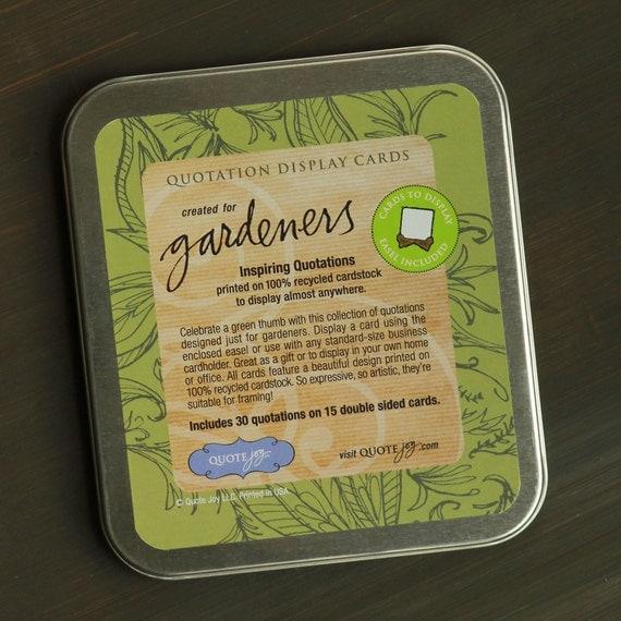Quote Joy -- Gardener's Card Set