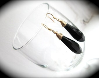 Jet Black Earrings