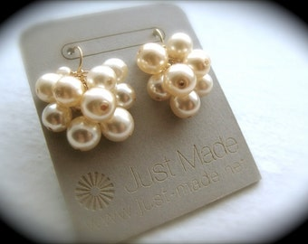 Pearl Puff Earrings