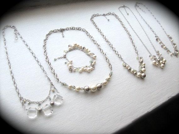 Antique Silver Custom Bridesmaid Jewelry