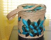 Vintage Straw Beach Bag