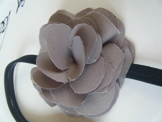 Taupe Flower Stretchy Headband