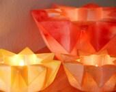 Three Waldorf Star Lanterns - Autumn Spice