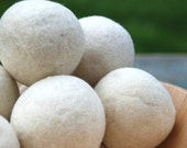 6 Wool Dryer Balls - Eco Friendly
