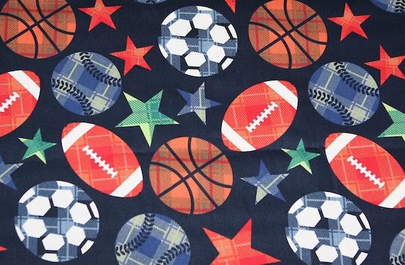 Sports Games Football Soccer Baseball Fabric 1 Yard