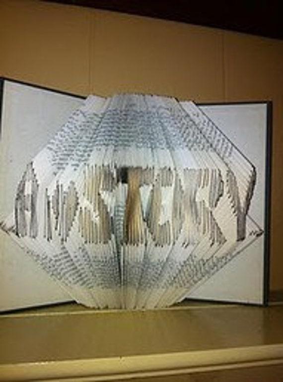 Folded Book Custom Sculpture - eight dollars per letter