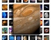 Astronomy (No. 5) - 75inx.83in Scrabble Size Image Tiles, Digital Collage Sheet PDF Images