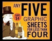 5 Graphic Sheets Deal
