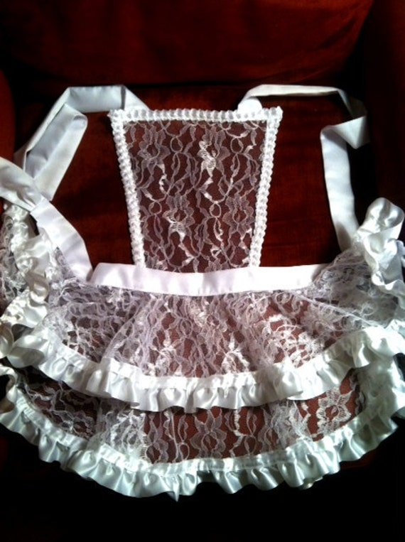 Hot Chick Aprons After Dark handmade lingerie apron - MADE TO ORDER