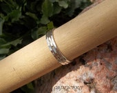Size 8 Sterling Silver Stacking Rings Set of THREE 18 Gauge