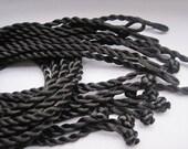 200pcs 18 inch 3mm black twist silk necklace cord