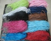 In bulk sale//200pcs 18 inch adjustable assorted color//16 colors at least ribbon necklace cord with lobster clasp