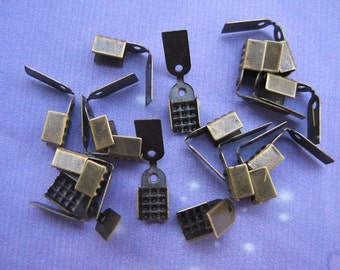 150pcs antiqued bronze 10x5mm ribbon clip